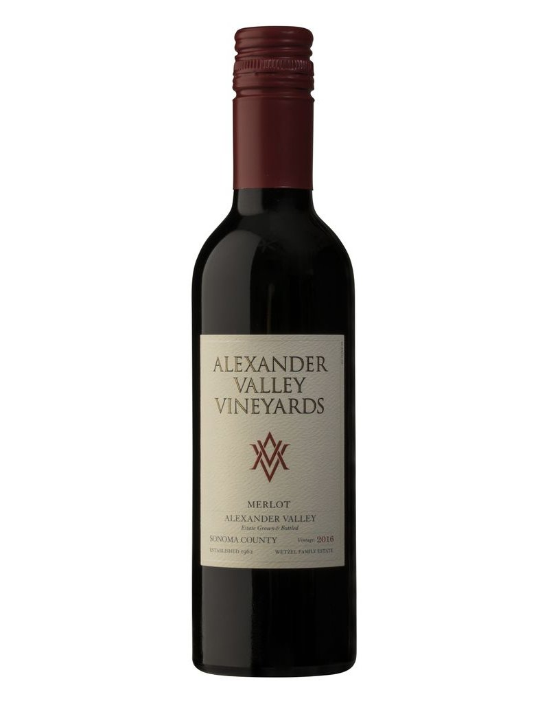Merlot, Alexander Valley Vineyards, Alexander Valley, CA, 2015 (375ml)