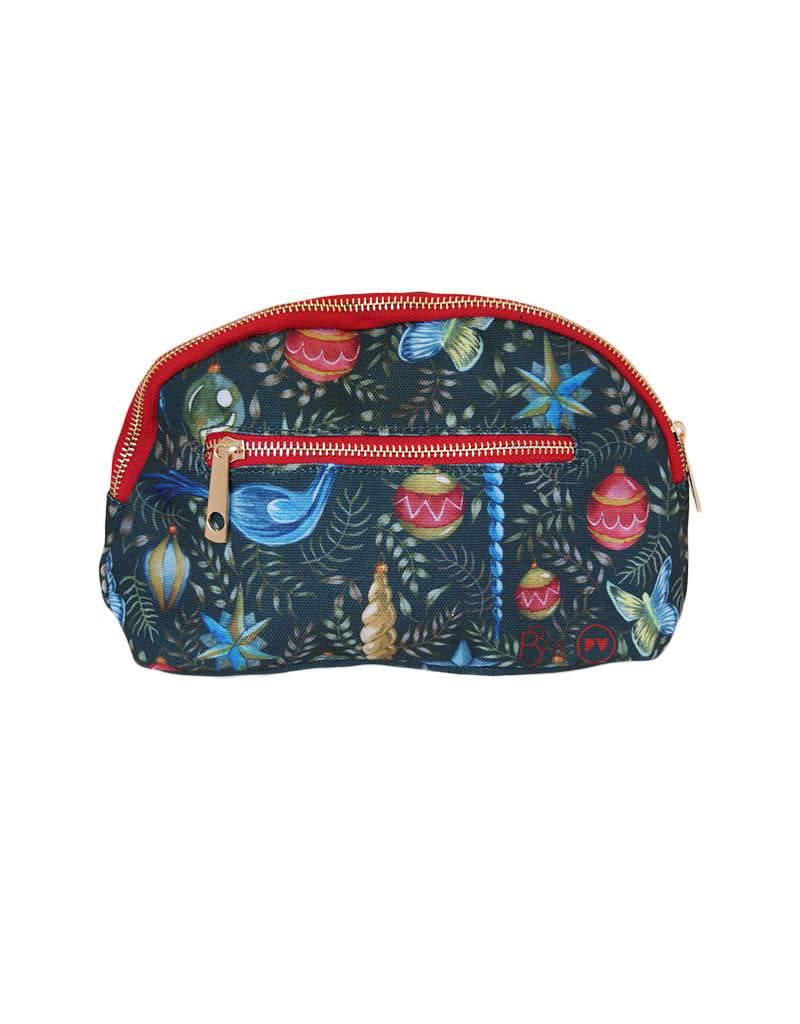 Cosmetic Bag: Watercolor Christmas