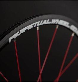 Perpetual wheel roue avant PPW Carbone SLC BOYAUX, logo blanc