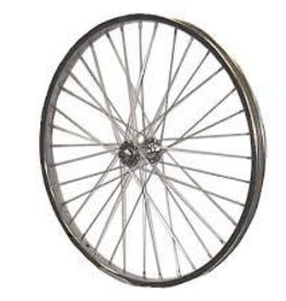 roue arr, REAR DAMCO 27 1-4 SILV.STEEL FREEwheel/NUT