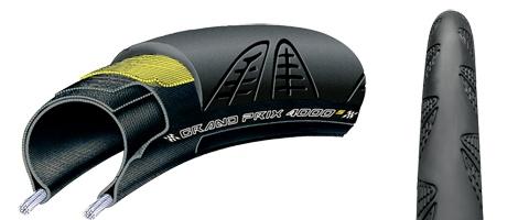 Continental Pneu Continental Grand Prix 4000 S II 700 X 23 Black-BW + Black Chili