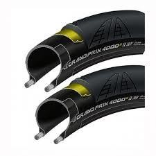 Continental Pneu Continental Grand Prix 4000 S II 700 X 25 Black-BW + Black Chili