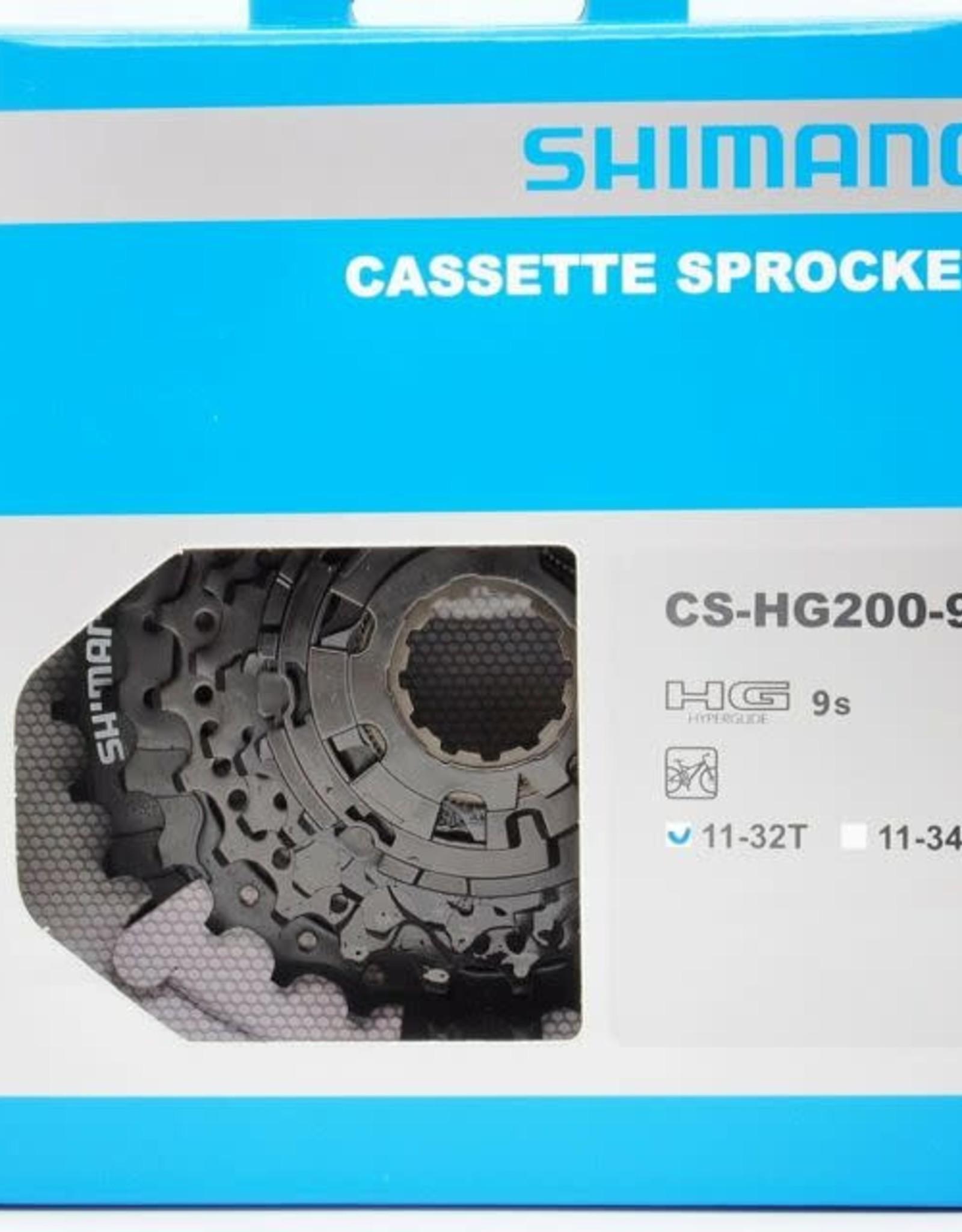 Shimano Shimano, CS-HG200-9, Cassette 9vit., 11-13-15-17-19-21-24-28-32D