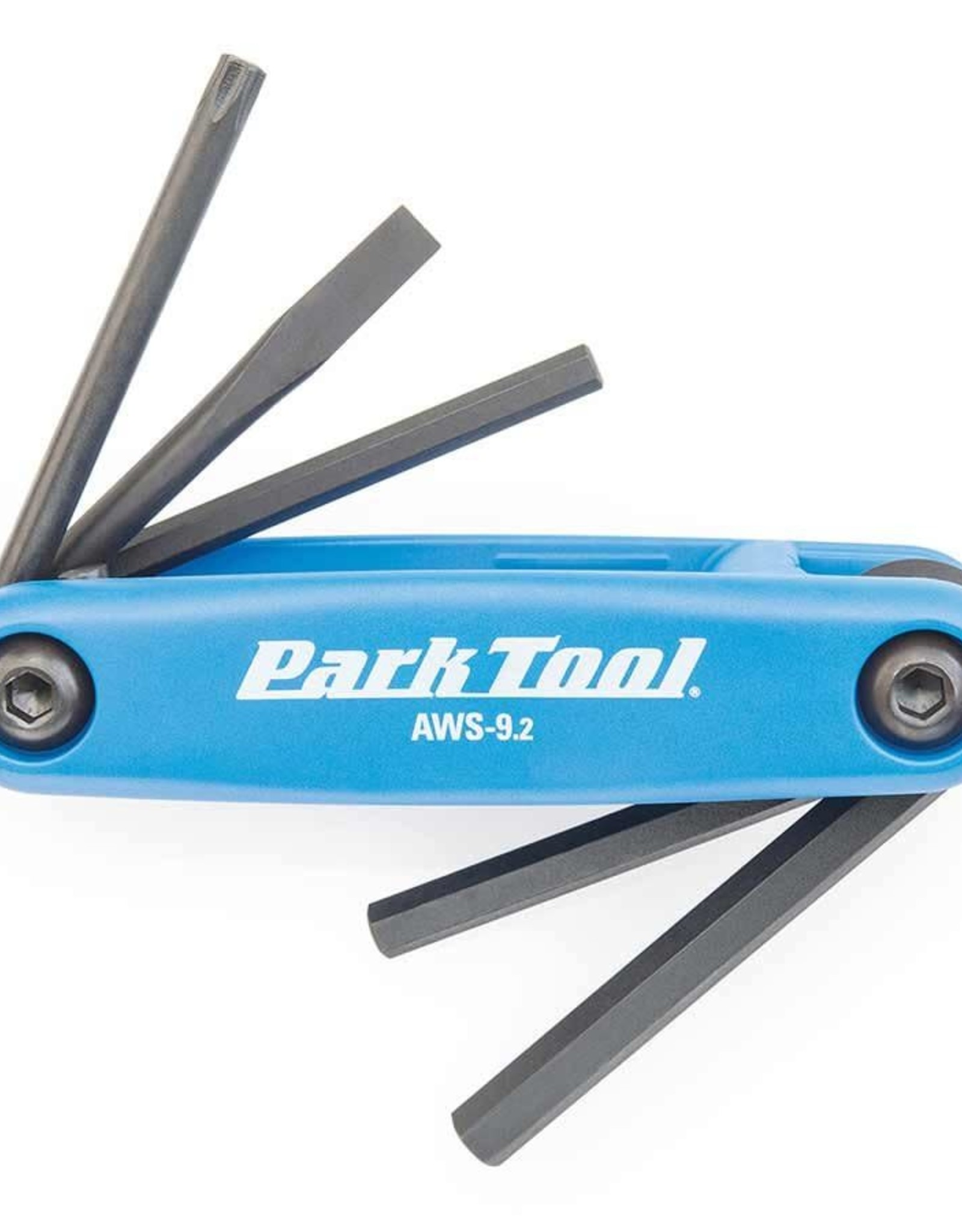 Park Tool Park Tl, AWS-9.2, Flding screwdriver/ hex wrench set, 4mm, 5mm, 6mm, Flat blade and T25