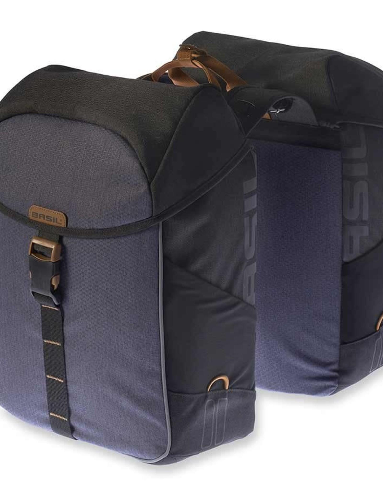 Basil, Miles Double Bag, Sacoche, 34L, Noir