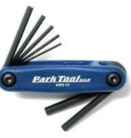 Park Tool JEU 7 CLES Allen Park Tool HEX AWS-10 bleu