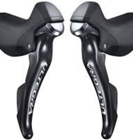 Shimano SHIFT/BRAKE LEVER SET, ST-6800 ULTEGRA 2X11-SPEED, W/STANDARD CABLE LENGTH (BLACK), IND.PACK