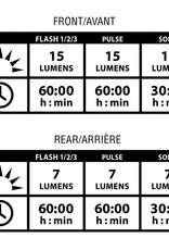 Lezyne, LED Femto Drive, blanche, Avant, Noir