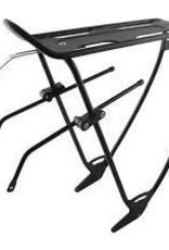 porte bagage EVO, Rear rack, With top plate, Adjustable sliders, Black