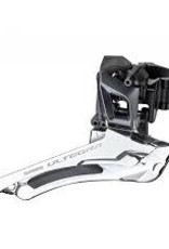 Shimano FRONT DERAILLEUR, FD-R8000, ULTEGRA, FOR REAR 11-SPEED, DOWN-SWING, 31.8MM BAND(W/28.6MM ADAPTER), CS-ANGLE:61-66, FOR 46/53T CL:43.5MM, IND.PACK