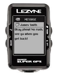 Lezyne, Super GPS, Cyclometre, Unite, Avec HR et capteur de vitesse/cadence