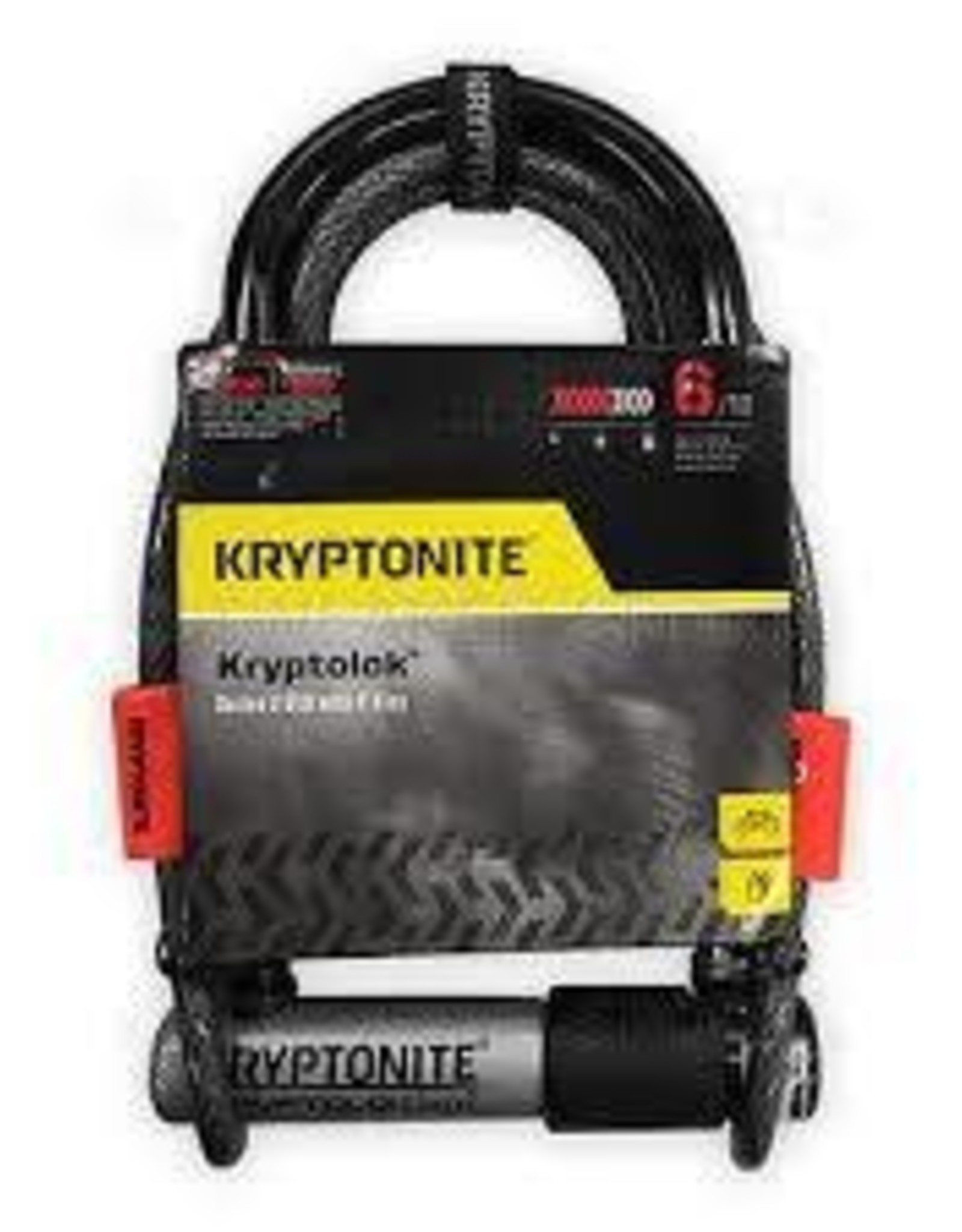 Kryptonite Kryptonite KRYPTOLOK serie 2 MINI-7 A/ FLEX CABLE 4' NOIR