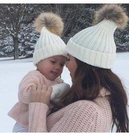 Tiny Trendsetter Tiny Ivory Pom Knit Hat (baby-kids)