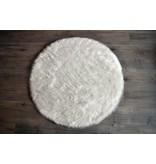 Kroma Carpets Faux Sheepskin Round White Rug