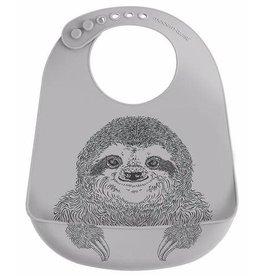 Modern Twist Bucket Bib- Silly Sloth