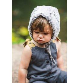Jacqueline & Jack Reversible Faux Fur Bonnet-Taupe