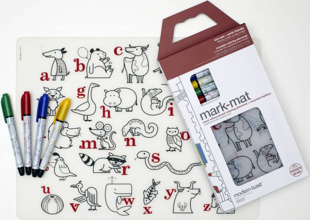 Modern Twist Mark Mat + Markers Set- Alphabet Animals