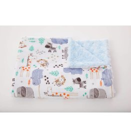 Tourance Baby Blanket- Elephants and Friends
