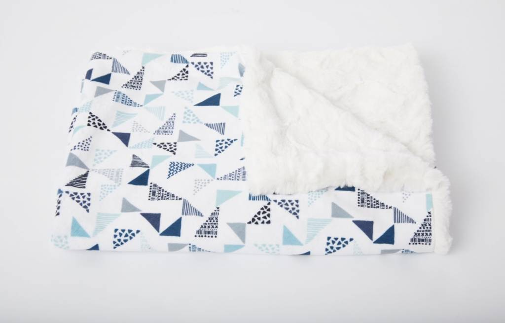 Tourance Baby Blanket- Puzzle Blue