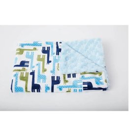 Tourance Baby Blanket-Giraffe and Friends Blue
