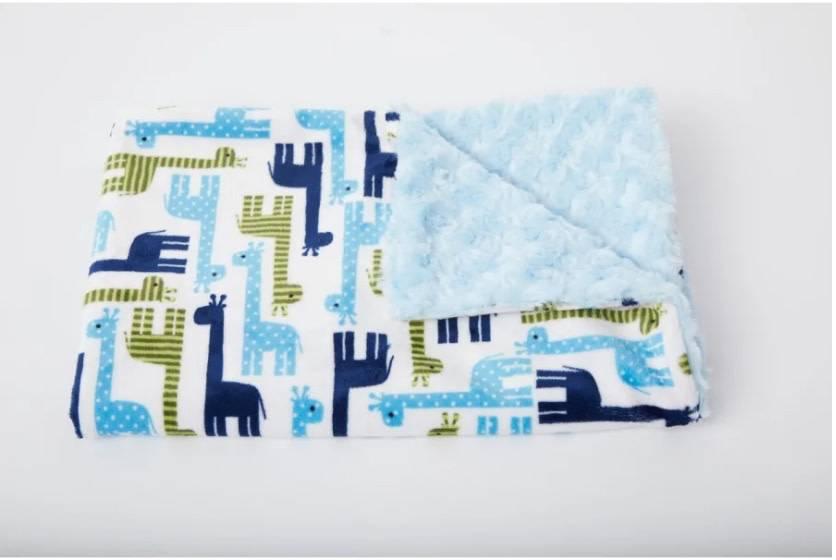 Tourance Baby Blanket-Giraffe and Friends Blue