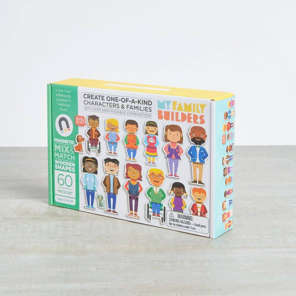 MyFamily Builders MyFamilyBuilders Magnetic Wooden Shapes