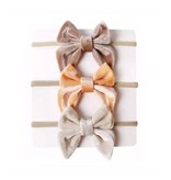 Tiny Trendsetter Kelly Bow Headband 3 Piece Set