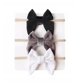 TIny Trendsetter Lila Bow Headband 3 Piece Set