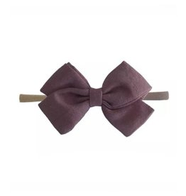 TIny Trendsetter Tiny Antique Mauve Bow Headband