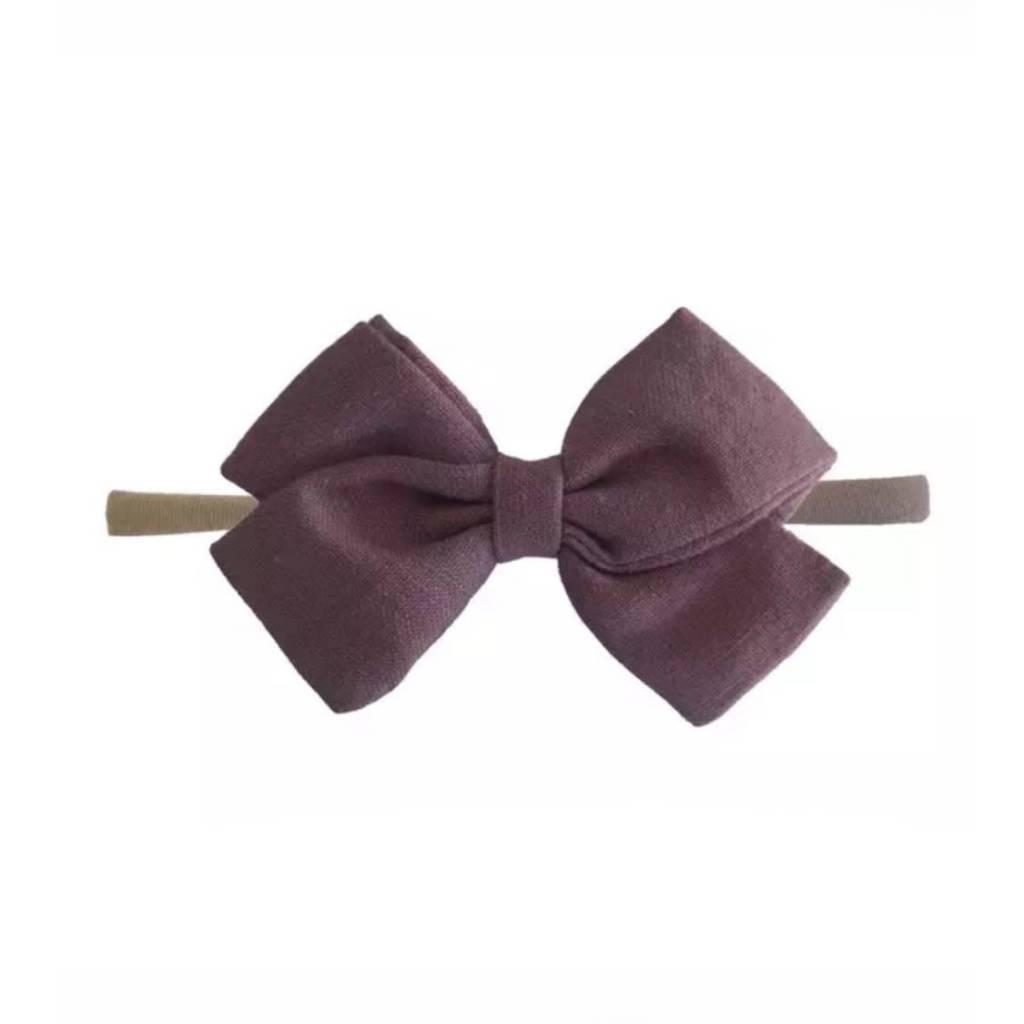 Tiny Trendsetter Tiny Antique Mauve Bow Headband