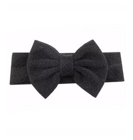 TIny Trendsetter Tiny Glitter Black Bow Headband