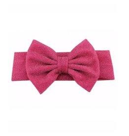 TIny Trendsetter Tiny Glitter Fuscia Bow Headband