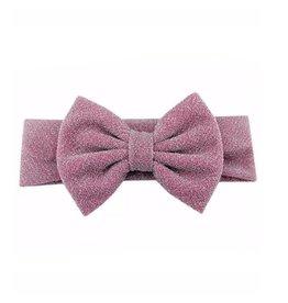 TIny Trendsetter Tiny Glitter Pink Bow Headband