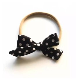 TIny Trendsetter Tiny Monochrome Dots Bow Headband