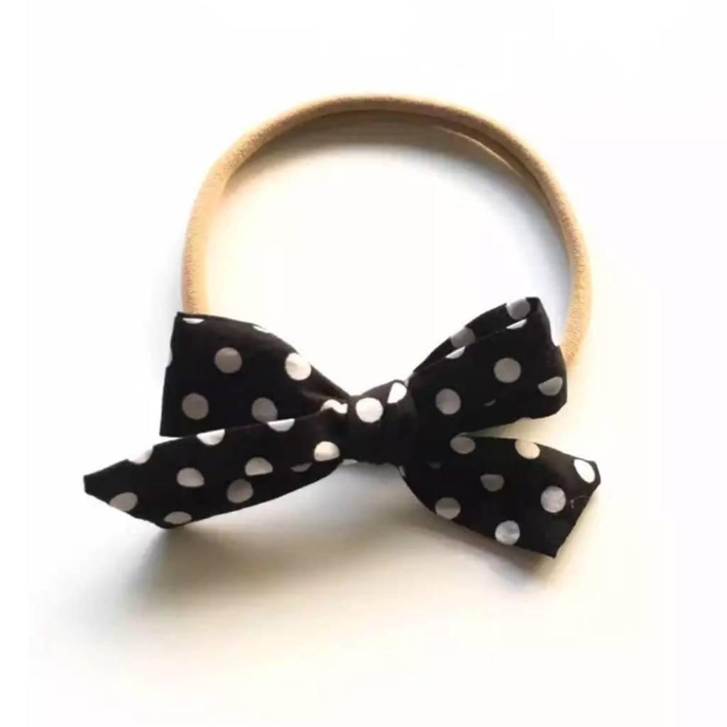 Tiny Trendsetter Tiny Monochrome Dots Bow Headband