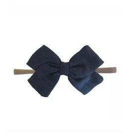 TIny Trendsetter Tiny Navy Bow Headband