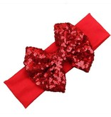 Tiny Trendsetter Tiny Red Sequin Bow Headband