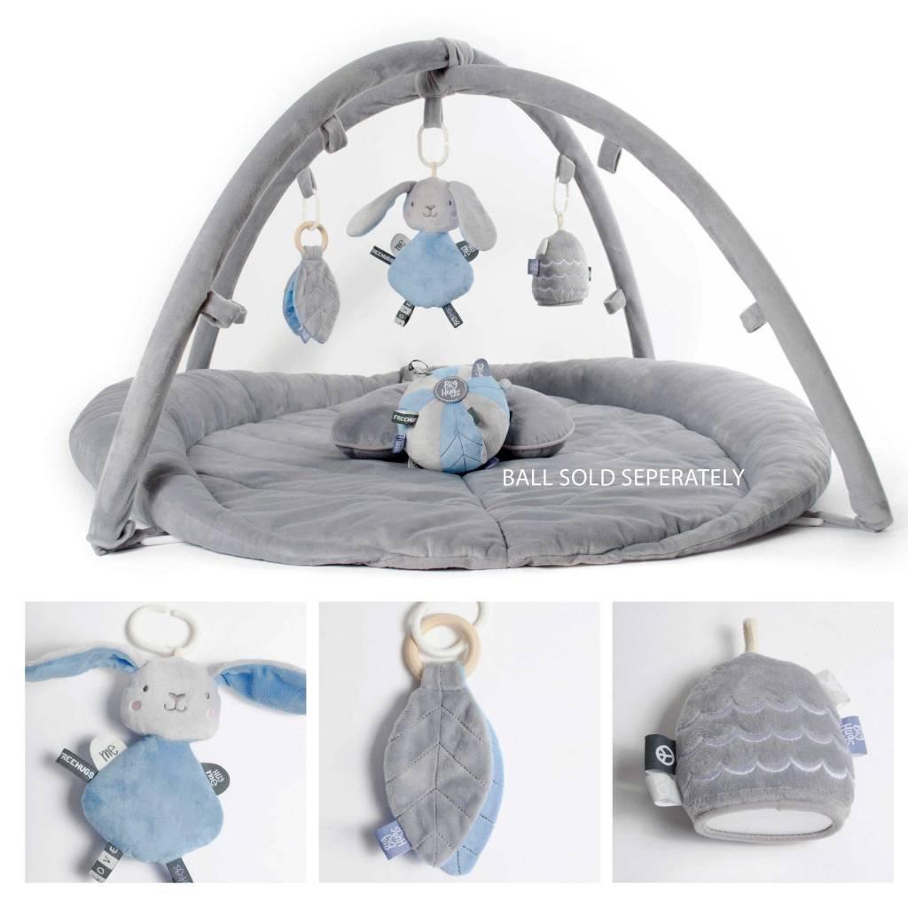 O.B. Designs Woodlands Activity Play Gym- Grey & Blue