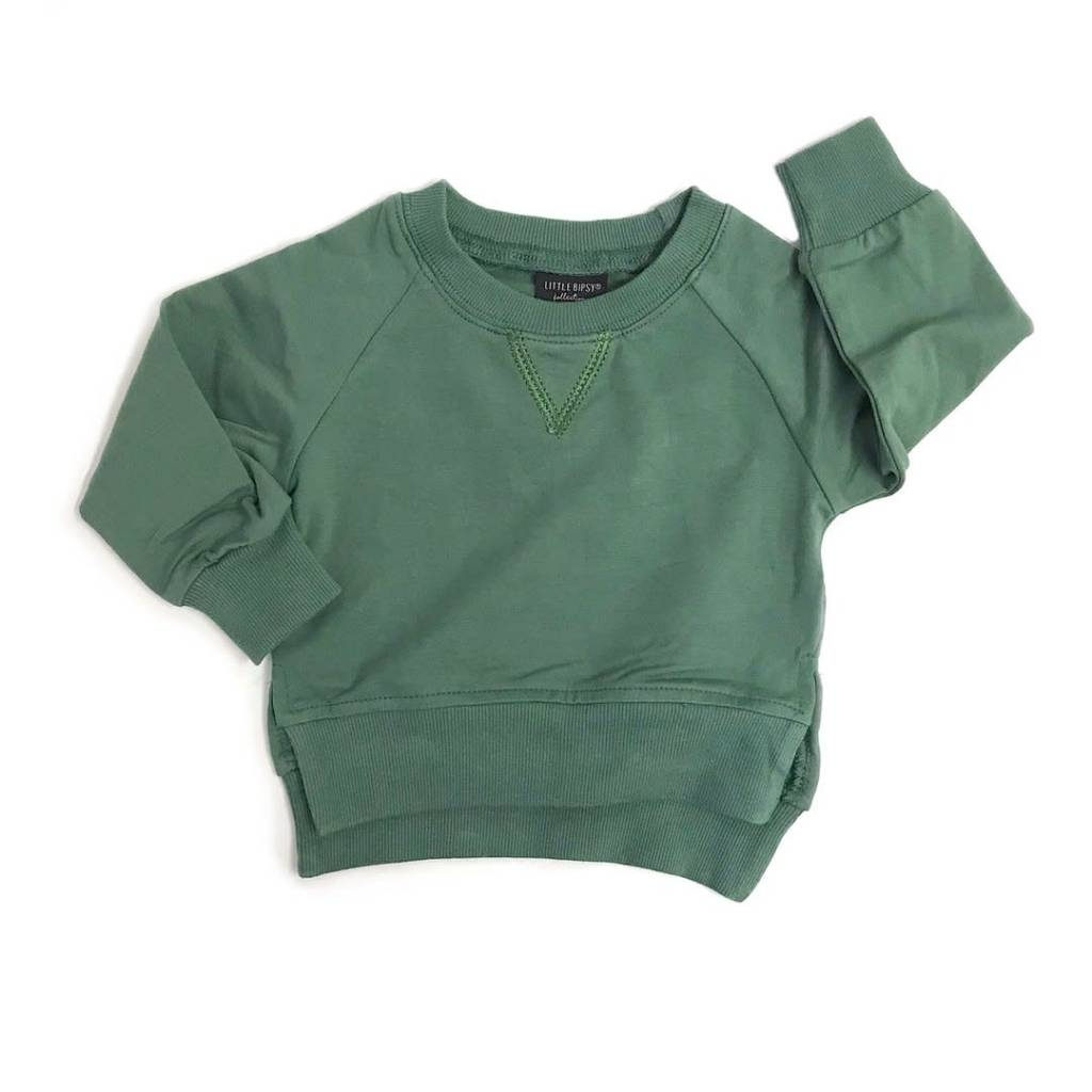 Little Bipsy New LB Pullover- Sage Green