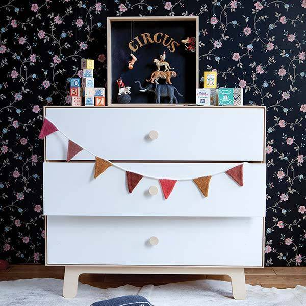 Oeuf 3 Drawer Dresser- Sparrow