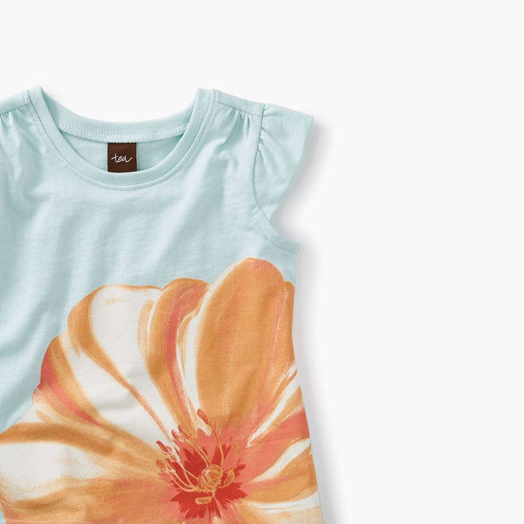 17c8ac9a0d6d Tea Collection Large Flower Graphic Baby Tee ...