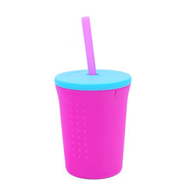 GoSili 12 oz Straw Cup- Berry/Sea