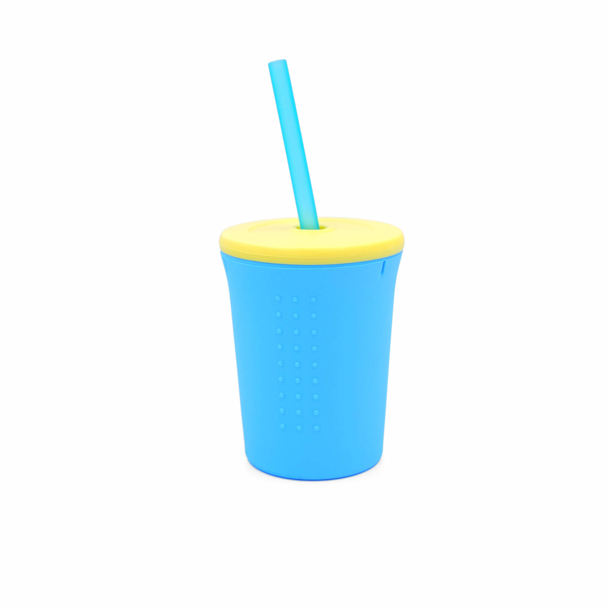 GoSili 12 oz Straw Cup- Sea/Yellow