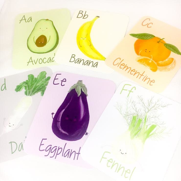 Chelsea and Marbles ABC Farmers Market Flash Cards