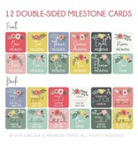 Chelsea and Marbles Bloom Milestone Card Set