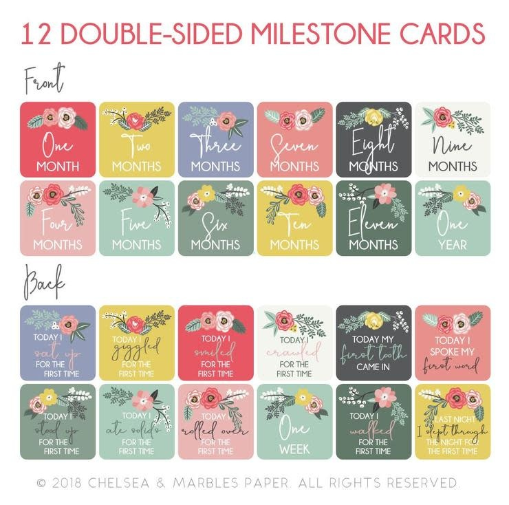 Bloom Milestone Card Set