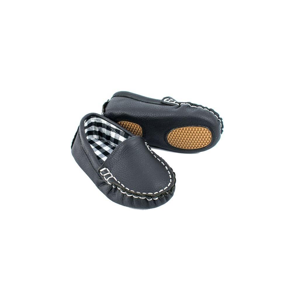 Sojo Moccs Loafers- Vinny, Black Leather