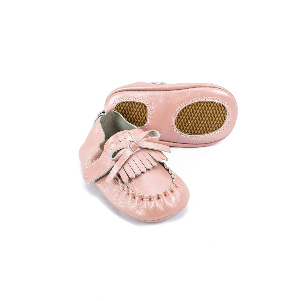 Sojo Moccs Moccasins- Rufus, Pink Leather