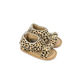 Sandals- Gigi, Leopard Print Suede