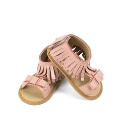 Sojo Moccs Sandals- Gigi, Light Pink Leather